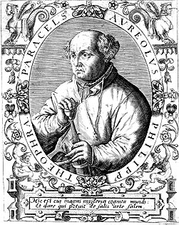 Paracelsus with his famous broadsword
