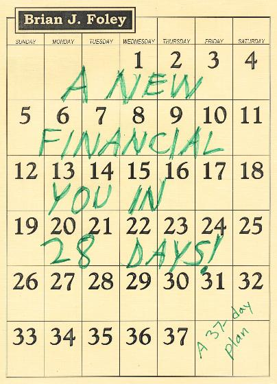 A New Financial You in 28 Days! A 37-Day Plan, by Brian J. Foley