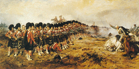 Campbell's Thin Red Line at Balaklava by Robert