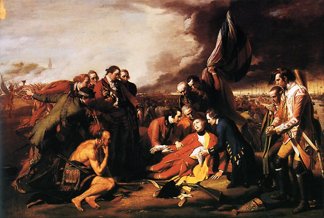 Death of General James Wolfe on the Plains of Abraham, by Benjamin West